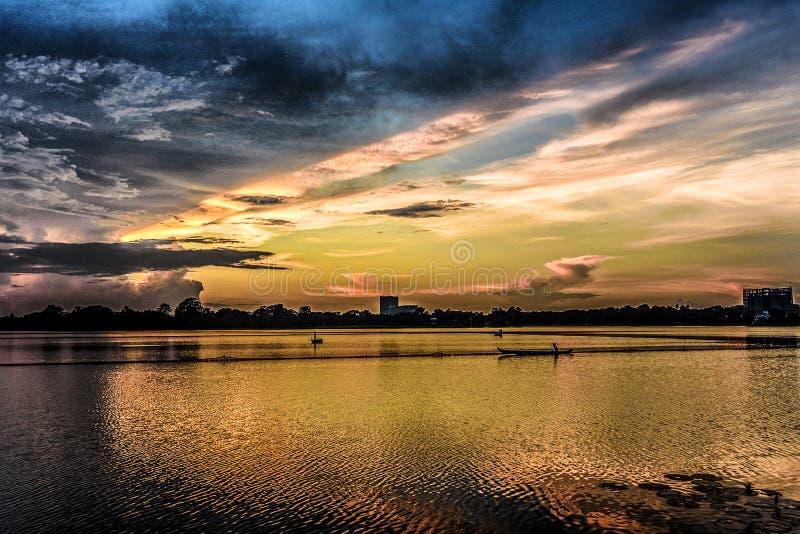 Lago Myanmar Inya fotografia stock