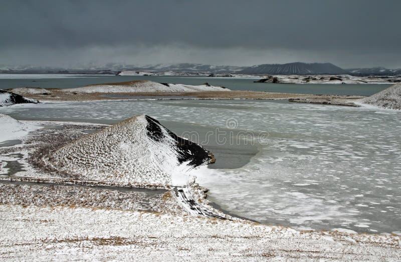 Lago Myvatn imagens de stock royalty free