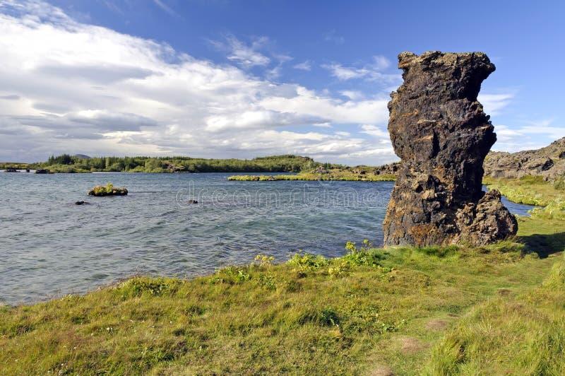 Lago Myvatn, Islândia foto de stock