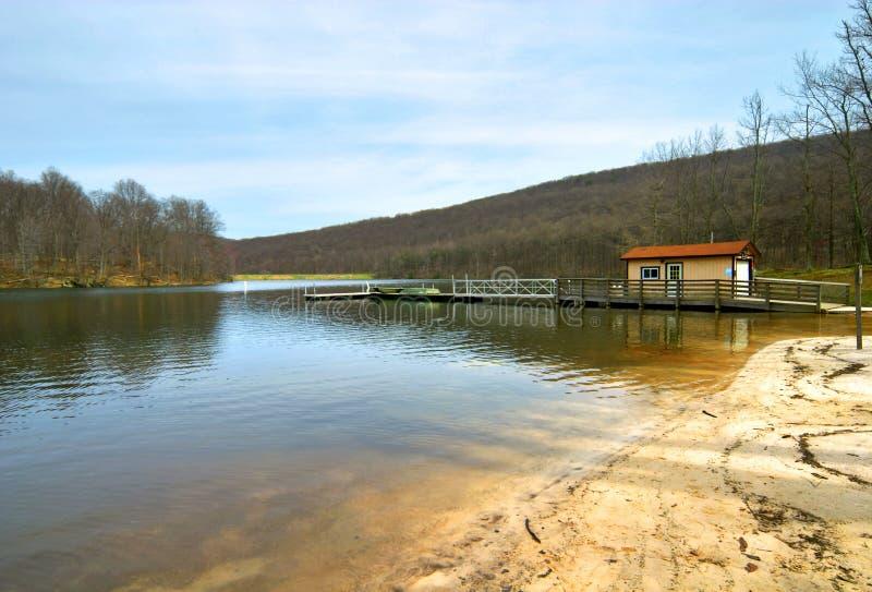 Lago na mola fotos de stock royalty free