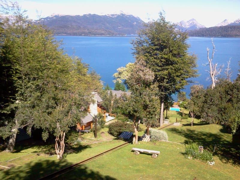 Lago Nahuel HuapÃ, la Argentina foto de archivo