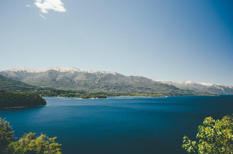 Lago Nahuel Huapi foto de archivo