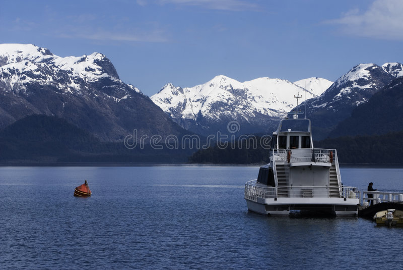 Lago Nahuel-Huapi, Patagonia, la Argentina fotos de archivo
