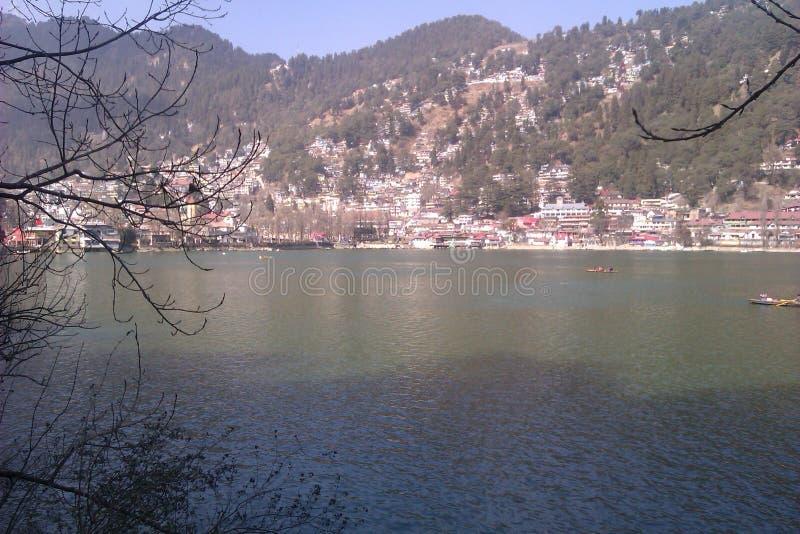 Lago Nainital fotografia stock
