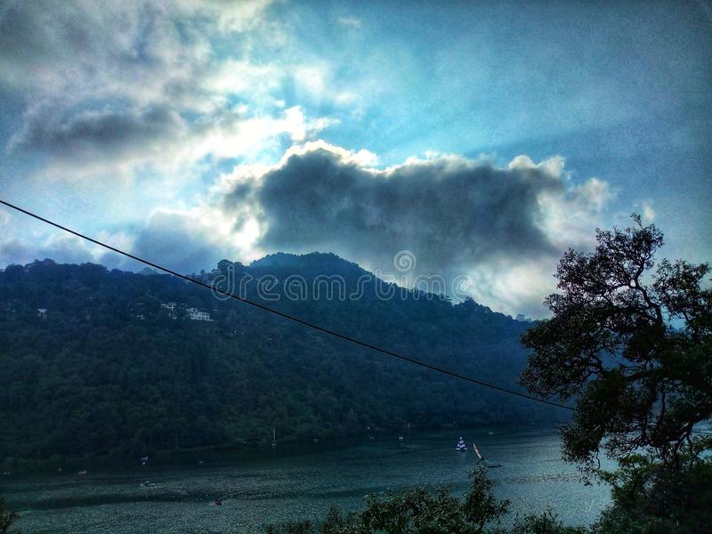 Lago Nainital imagem de stock