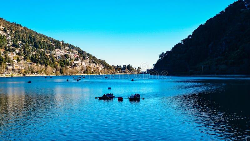 Lago Nainital fotografie stock libere da diritti