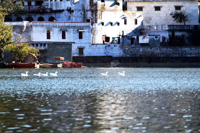 Lago Nakki, soporte Abu, Rajasthán, la India fotografía de archivo libre de regalías
