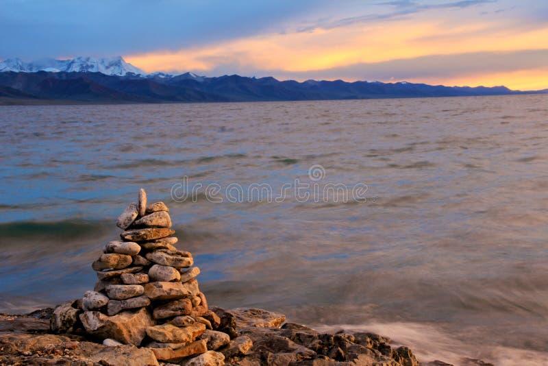 Lago Namtso fotos de stock royalty free