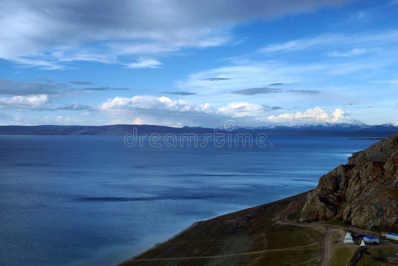 Lago Namtso fotografie stock