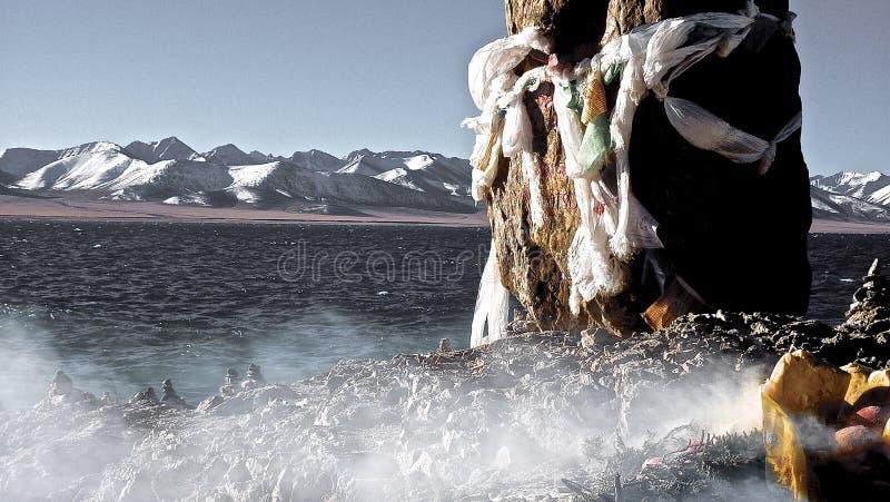 Lago Namtso. TIBET. fotografia de stock royalty free