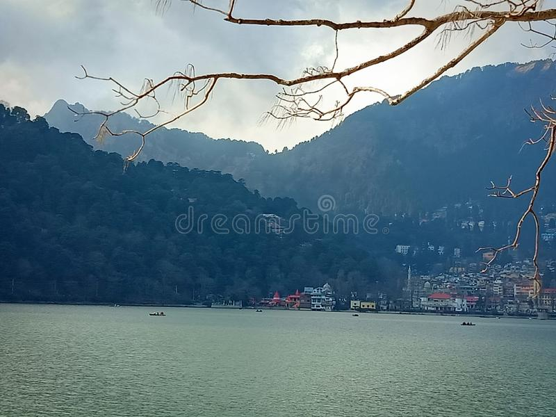 Lago Nanital imagens de stock