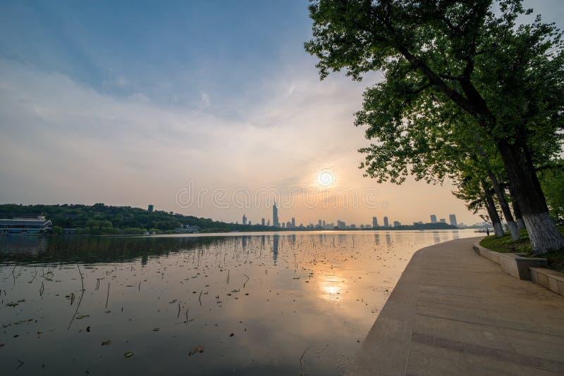 Lago nanjing Xuanwu imagenes de archivo