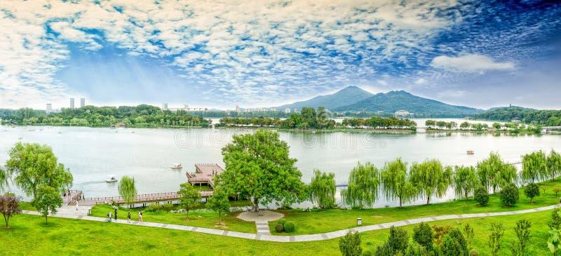 Lago Nanjing Xuanwu fotografia de stock