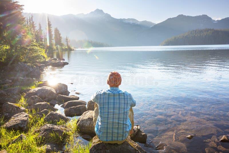 Lago nel Canada immagine stock