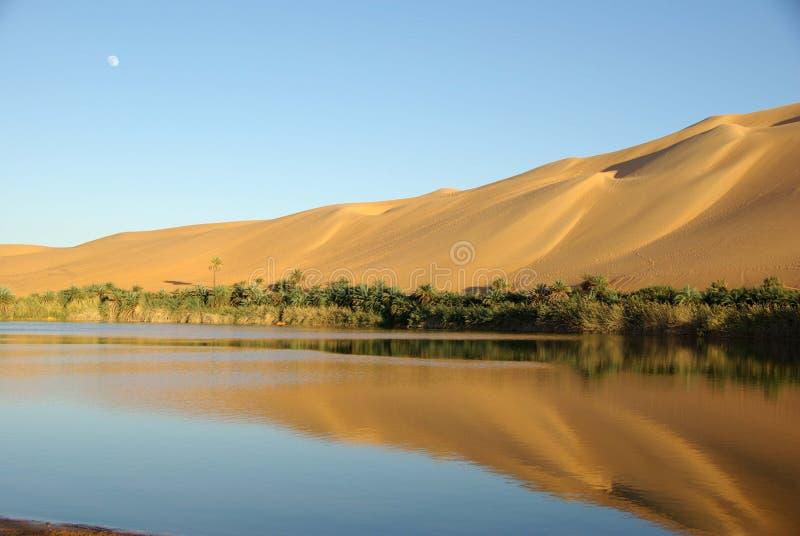 Lago nel deserto, Libia immagini stock libere da diritti