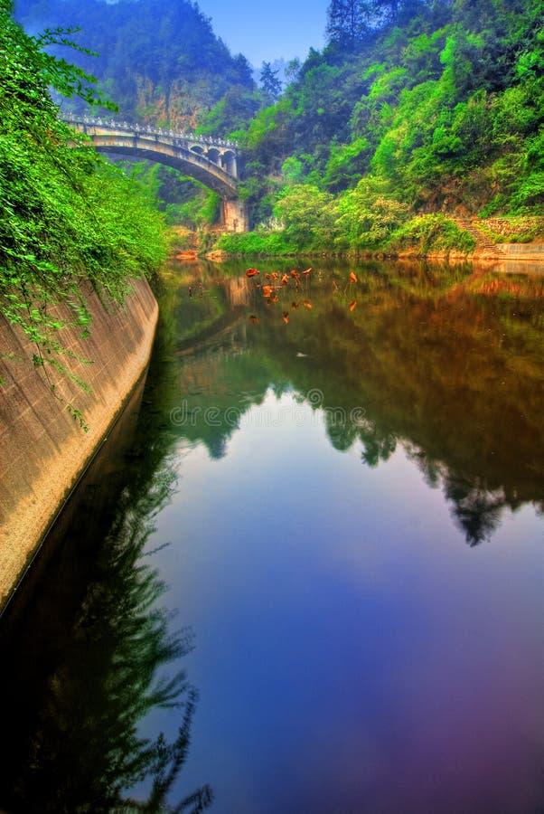 Lago nel distretto del Hubei, Cina immagine stock libera da diritti