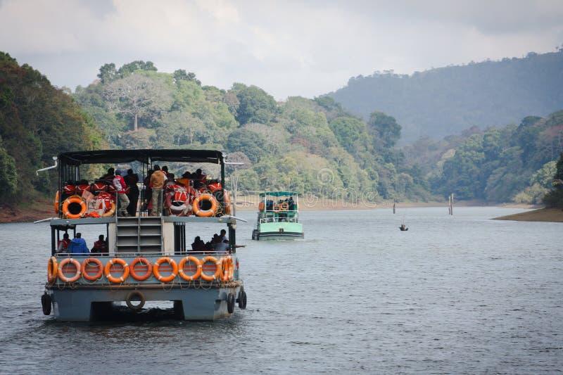 Lago nel Kerala immagine stock