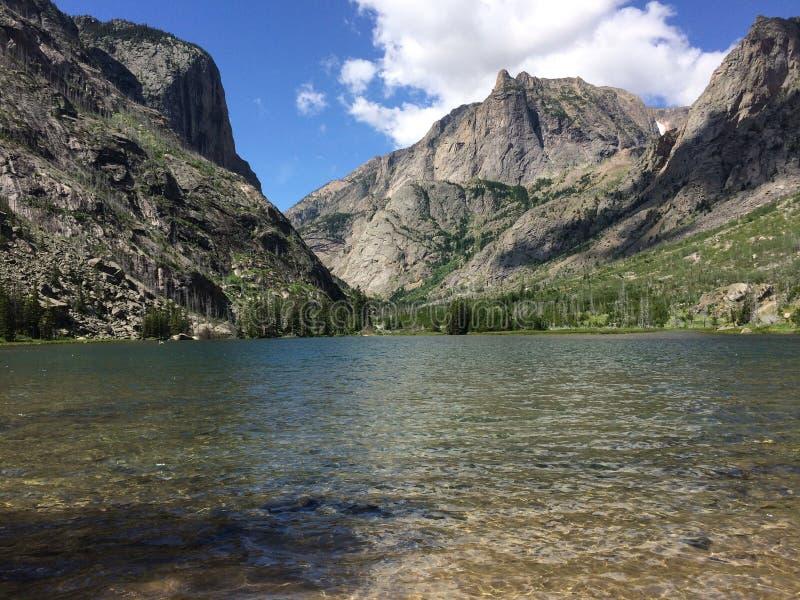 Lago nel Montana immagini stock libere da diritti