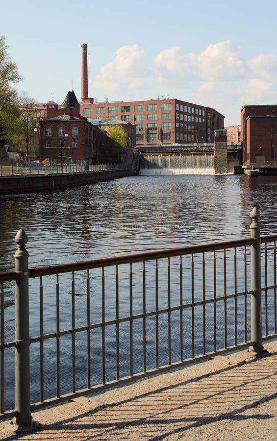Lago nella città di Tampere immagine stock libera da diritti