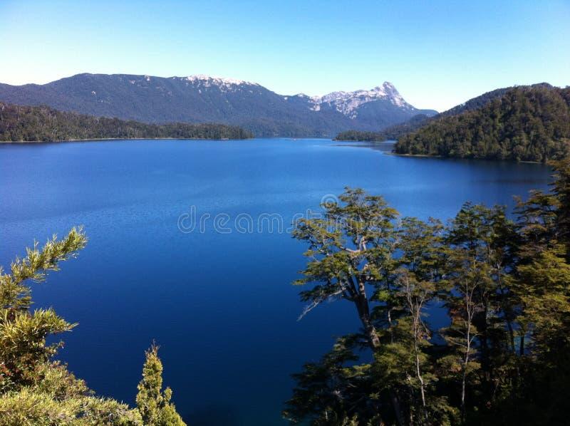 Lago nella Patagonia Argentina immagine stock libera da diritti