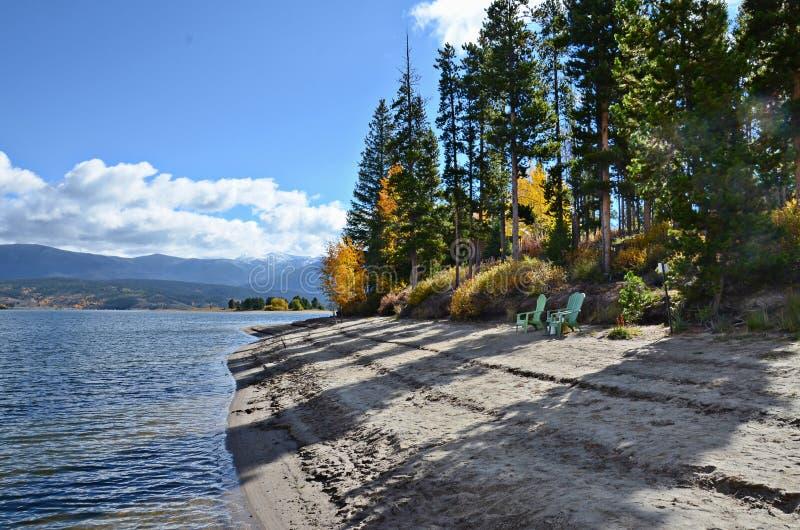 Lago no outono, Colorado Granby fotografia de stock