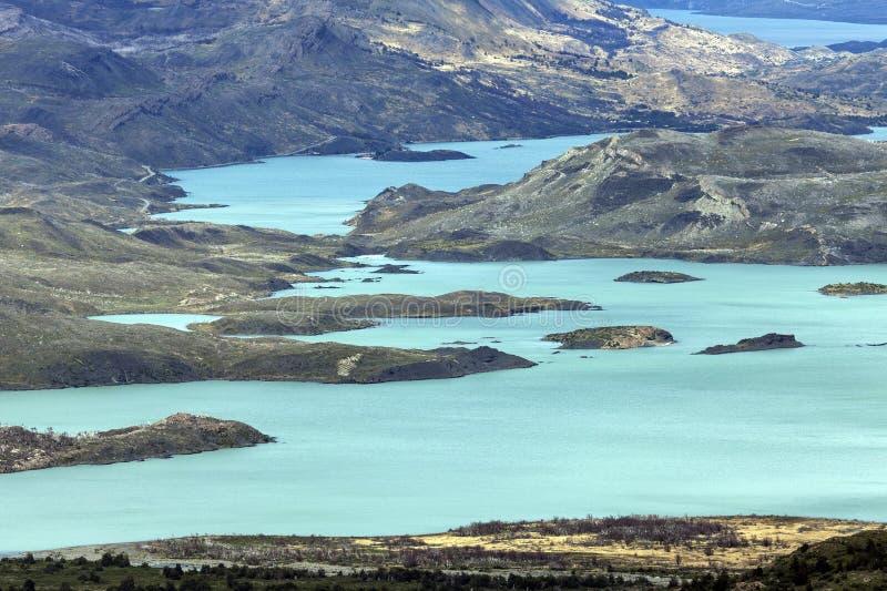 Lago Nordenskjold fotografie stock
