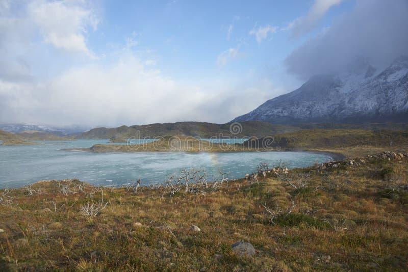 Lago Nordenskjold, parc national de Torres del Paine, Chili photo libre de droits
