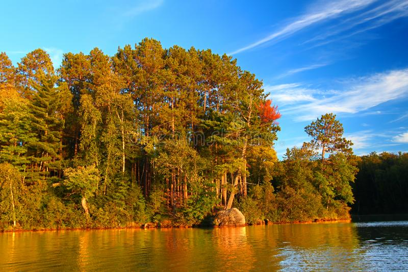 Lago Northwoods Wisconsin Sweeney imagen de archivo libre de regalías