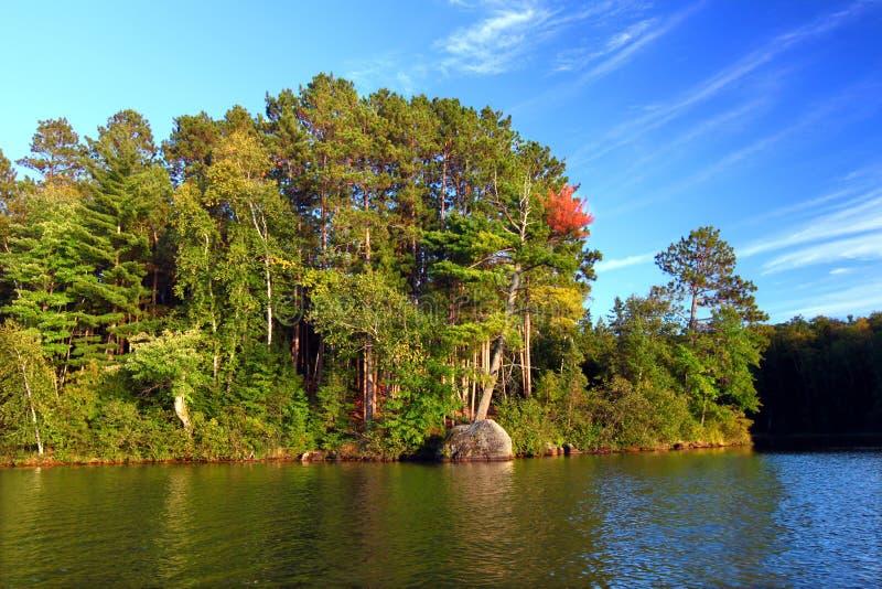 Lago Northwoods Wisconsin Sweeney imágenes de archivo libres de regalías
