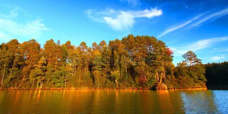 Lago Northwoods Wisconsin Sweeney immagine stock