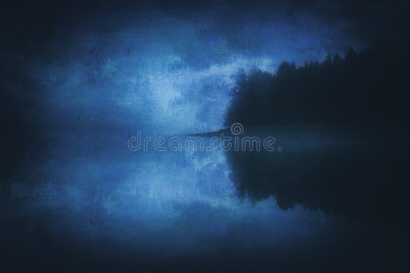 Lago noruegan frio com texturas sujas foto de stock