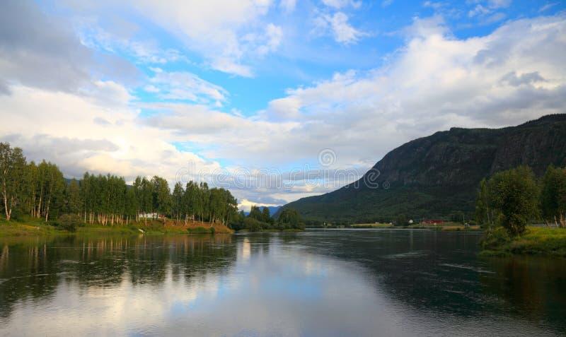 Lago norway. fotografia stock