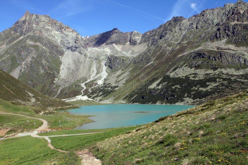 Lago nos apls, Áustria mountain fotos de stock royalty free