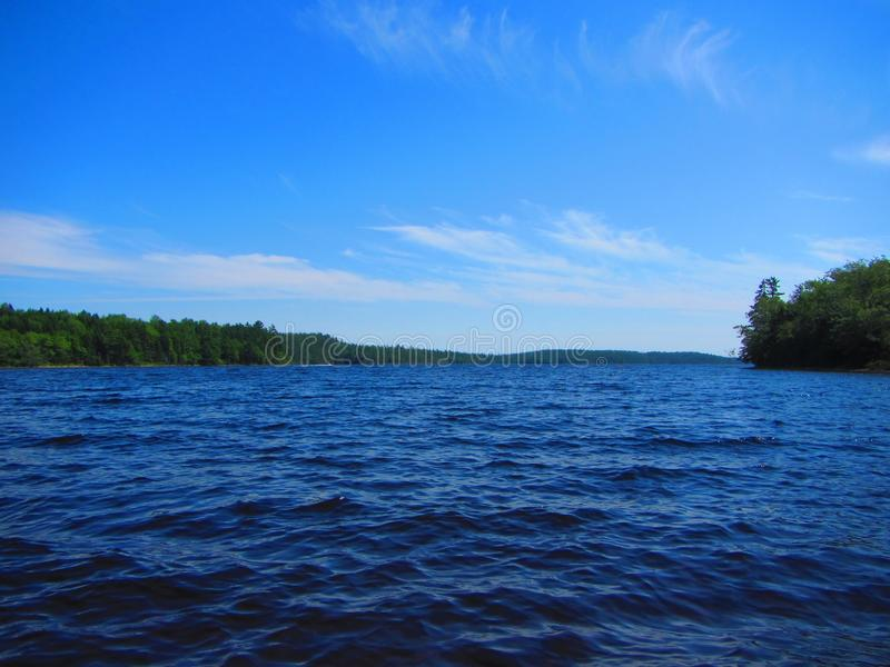 Lago Nova Scotia Canada dollar immagini stock