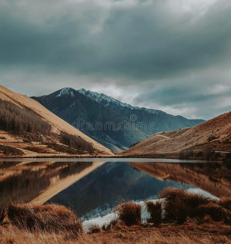 Lago Nova Zelândia Moke fotografia de stock
