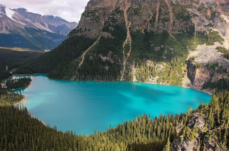 Lago O'Hara, Yoho National Park, Canadá imagens de stock