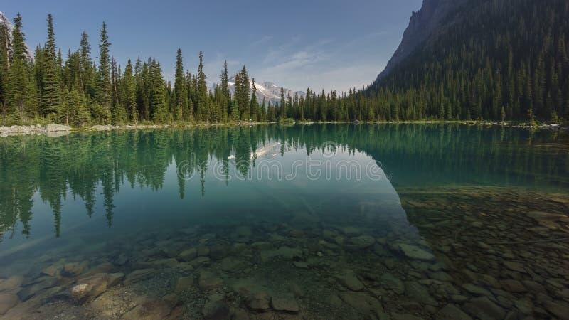 Lago O'Hara, Yoho National Park, montañas rocosas canadienses, británicos Colum imagen de archivo