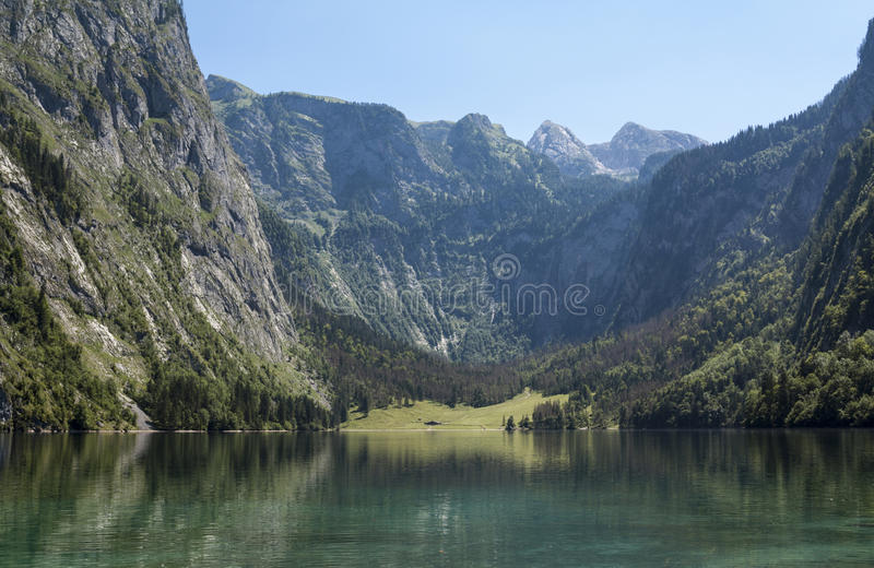Lago Obersee imagem de stock