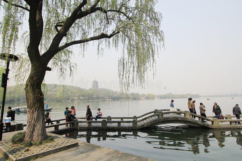 Lago ocidental em hangzhou, porcelana foto de stock