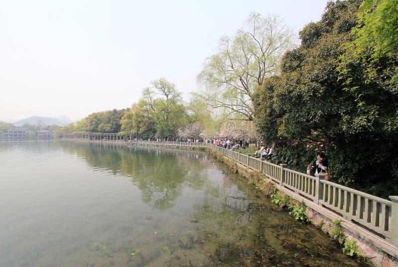 Lago ocidental em hangzhou, porcelana fotos de stock royalty free