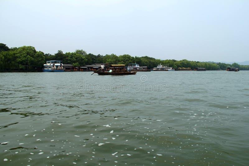 Lago ocidental Hangzhou, China Oriental imagens de stock