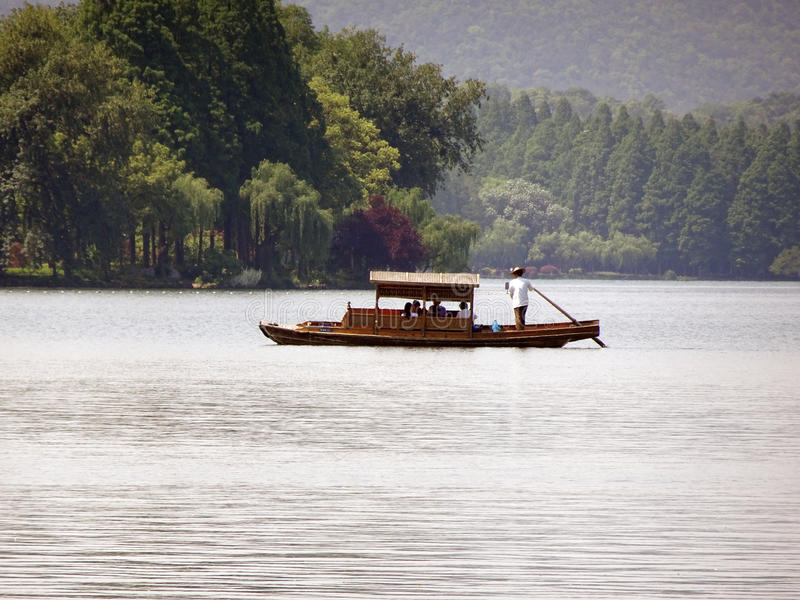 Lago ocidental Hangzhou em China fotografia de stock