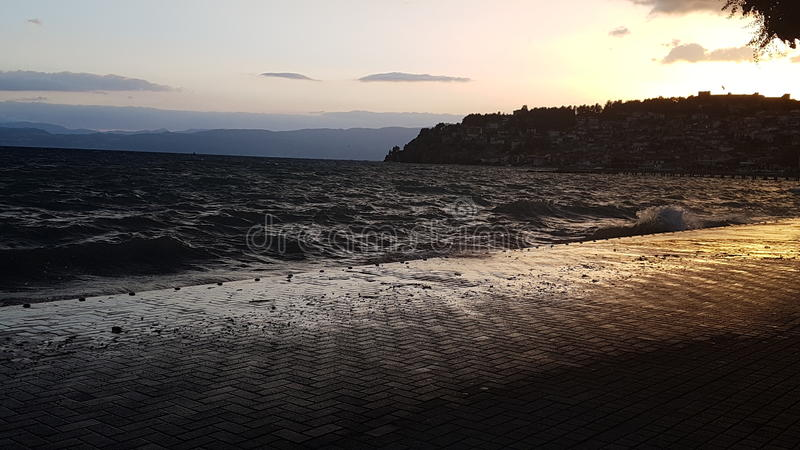 Lago Ohrid fotografia de stock royalty free
