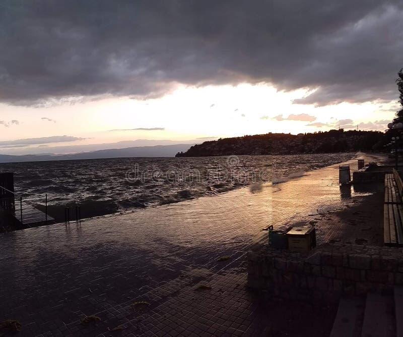Lago Ohrid imagem de stock
