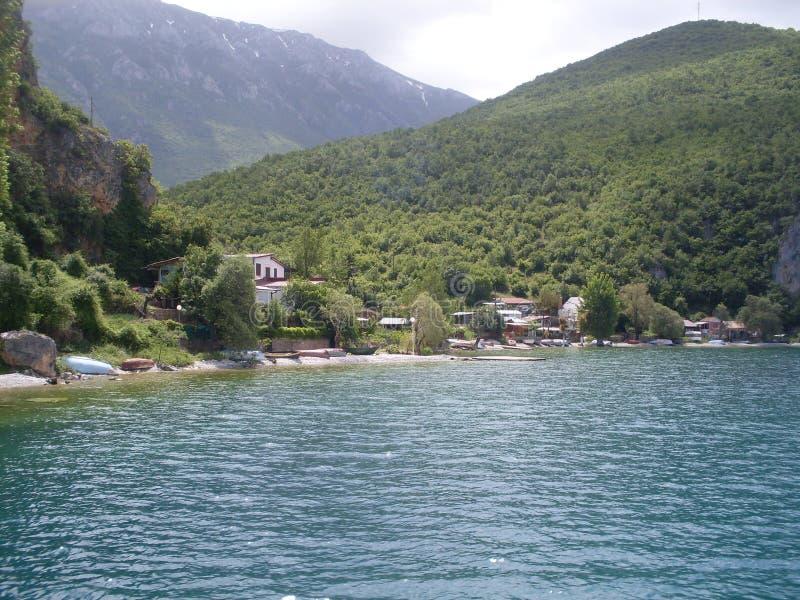 Lago Ohrid en Macedonia fotografía de archivo