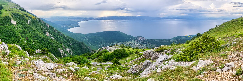 Lago Ohrid, Macedónia imagens de stock
