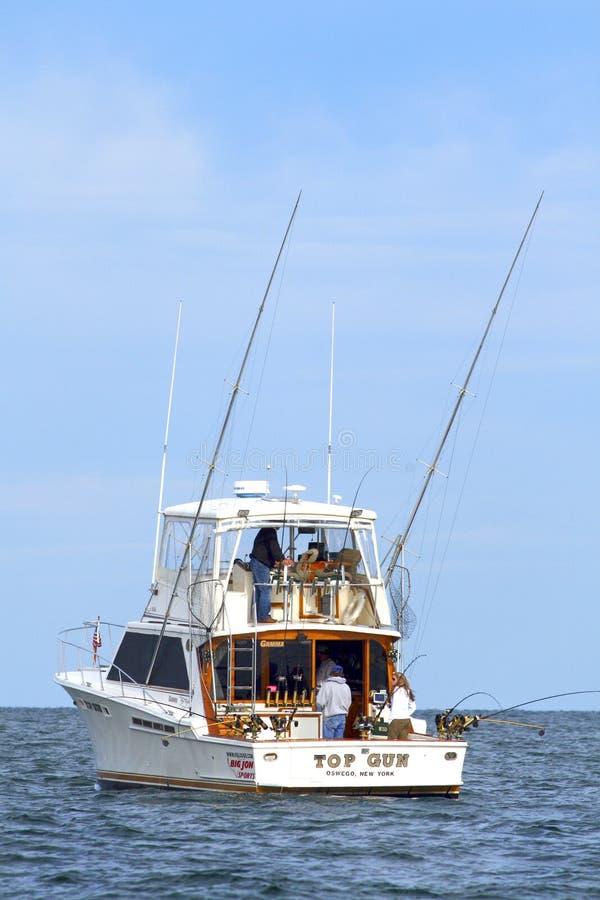 Lago Ontário fishing de esporte - barco Salmon da carta patente imagem de stock royalty free
