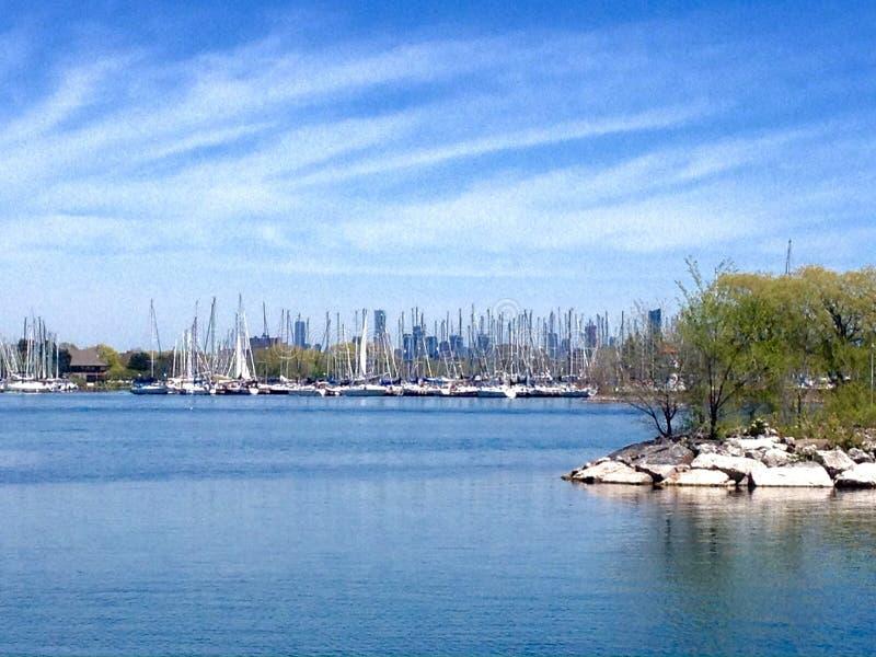 Lago ontario in primavera fotografia stock
