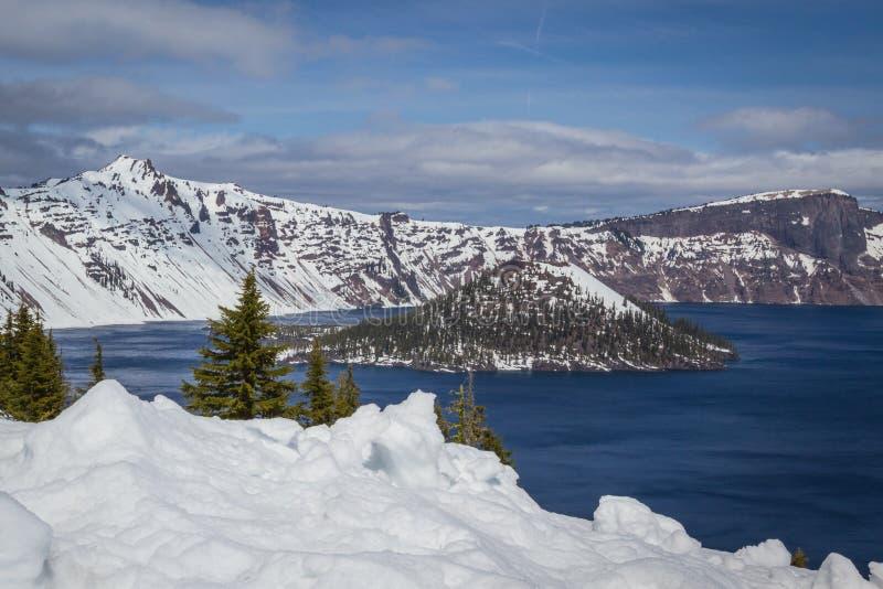 Lago Oregon crater imagen de archivo libre de regalías