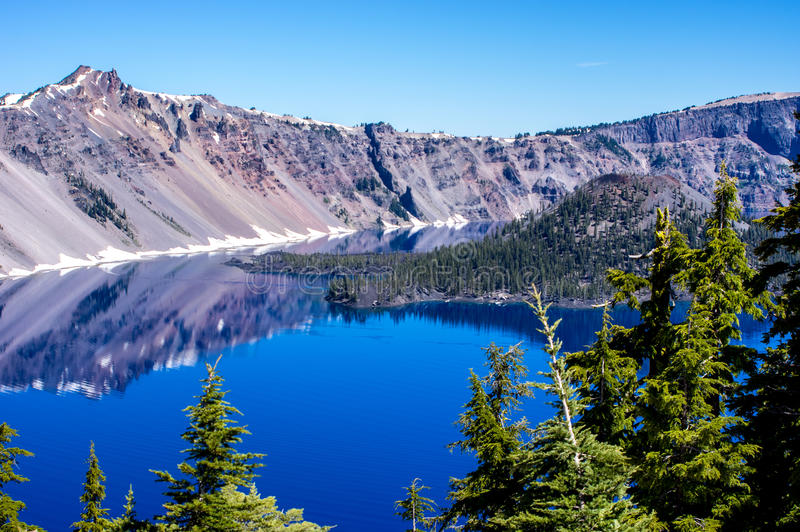 Lago Oregon crater imagen de archivo
